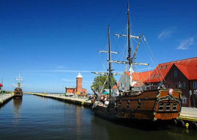 Port w Darłówku.